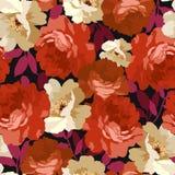 Modelo floral inconsútil con las rosas Imagen de archivo