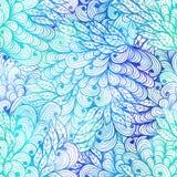 Modelo floral inconsútil del azul del grunge Fotos de archivo libres de regalías
