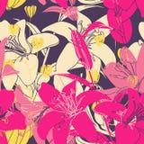 Modelo floral inconsútil del vector Fotografía de archivo libre de regalías