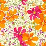 Modelo floral inconsútil del vector Stock de ilustración