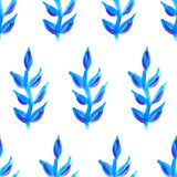 Modelo floral inconsútil del vector Plantas y flores azules Imagen de archivo