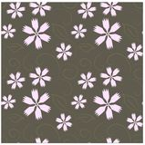 Modelo floral inconsútil Los clavos rosados, marrón remolinan en gris Foto de archivo libre de regalías