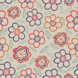 Modelo floral inconsútil Textura de las flores Margarita Imagen de archivo