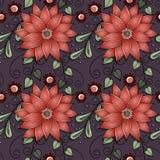 Modelo floral inconsútil (vector) Imagen de archivo libre de regalías