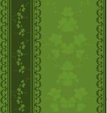 Modelo floral inconsútil verde stock de ilustración