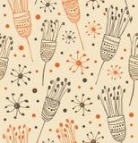 Modelo floral ligero inconsútil Fondo abstracto con las flores Textura decorativa para las impresiones, materia textil del cordón Fotografía de archivo