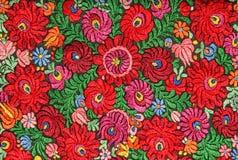 Modelo floral multicolor del bordado de la mano Imagen de archivo