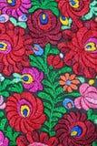 Modelo floral multicolor del bordado de la mano Fotos de archivo