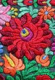 Modelo floral multicolor del bordado de la mano Imagen de archivo libre de regalías
