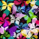 Modelo floral oscuro inconsútil Imagen de archivo libre de regalías