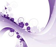 Modelo floral púrpura Foto de archivo libre de regalías