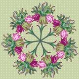 Modelo floral redondo ornamental Fotos de archivo libres de regalías