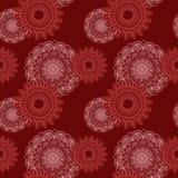 Modelo floral rojo oscuro inconsútil Imagen de archivo
