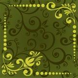Modelo floral verde Imágenes de archivo libres de regalías