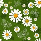 Modelo floral verde inconsútil Foto de archivo