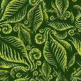Modelo floral verde inconsútil