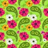 Modelo floral verde inconsútil Fotografía de archivo