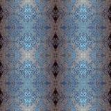 Modelo floral y geométrico de la decoración, azul del ornamento del mosaico libre illustration
