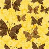 Modelo floral Yellow-brown Imagenes de archivo