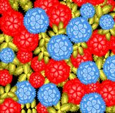 Modelo, flores florales, modelo elegante del estilo, suéter Imagen de archivo libre de regalías