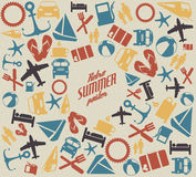 Modelo/fondo del verano del vector Imagenes de archivo