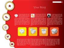 Modelo fresco del Web site con los anillos de oro Imagenes de archivo