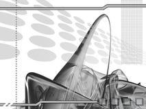 Modelo futurista ilustración del vector