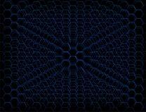 Modelo futurista azul abstracto de la célula del panal ilustración del vector