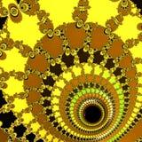 Modelo futurista hermoso del fractal Fondo colorido del diseño abstracto Fondo amarillo del art déco stock de ilustración