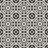 Modelo geométrico étnico blanco y negro inconsútil de los bloques del vector ilustración del vector