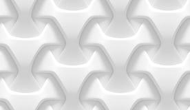 Modelo geométrico abstracto blanco Estilo de papel de la papiroflexia 3D que rinde textura inconsútil Fotos de archivo