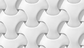 Modelo geométrico abstracto blanco Estilo de papel de la papiroflexia 3D que rinde textura inconsútil Imágenes de archivo libres de regalías
