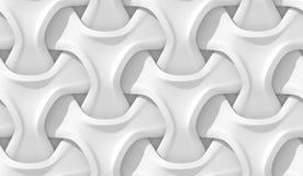 Modelo geométrico abstracto blanco Estilo de papel de la papiroflexia 3D que rinde textura inconsútil Fotos de archivo libres de regalías