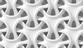 Modelo geométrico abstracto blanco Estilo de papel de la papiroflexia 3D que rinde textura inconsútil Fotografía de archivo libre de regalías