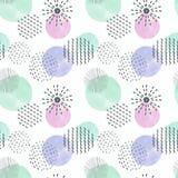 Modelo geométrico abstracto, círculos coloridos decorativos Fotografía de archivo