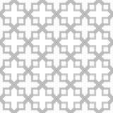 Modelo geométrico abstracto con cruzar líneas rectas finas Textura elegante en color gris Modelo linear inconsútil Azulejos árabe Imágenes de archivo libres de regalías