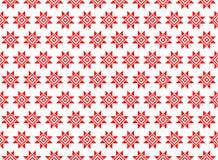 Modelo geométrico abstracto con las figuras geométricas, flor Un fondo inconsútil del vector Textura roja Foto de archivo libre de regalías