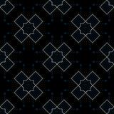 Modelo geométrico abstracto con las líneas, fondo inconsútil del vector de los Rhombus A Textura azul oscura y del oro libre illustration