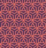 Modelo geométrico abstracto con los triángulos rojos y los hexágonos - vector eps8 Foto de archivo libre de regalías