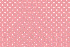 Modelo geométrico abstracto de la forma con colou en colores pastel rosado Foto de archivo