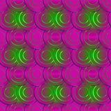 Modelo geométrico abstracto de la púrpura de los círculos Imagen de archivo