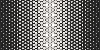 Modelo geométrico abstracto Modelo hexagonal de la impresión del diseño de la moda del inconformista Panales blancos en un fondo  libre illustration