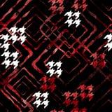 Modelo geométrico abstracto inconsútil con efecto de la acuarela Modelo elegante para las materias textiles libre illustration
