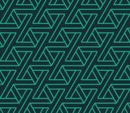 Modelo geométrico abstracto inconsútil hecho de triángulos Imagen de archivo libre de regalías