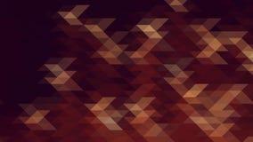 Modelo geométrico abstracto moderno con marrón, la naranja y los triángulos de Borgoña Imagen de archivo