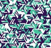 Modelo geométrico abstracto Un caleidoscopio de líneas y de triángulos ilustración del vector