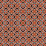 Modelo geométrico antiguo en la repetición Impresión de la tela Fondo inconsútil, ornamento del mosaico, estilo étnico Imagen de archivo