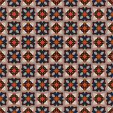 Modelo geométrico antiguo en la repetición Impresión de la tela Fondo inconsútil, ornamento del mosaico, estilo étnico Imagen de archivo libre de regalías