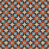 Modelo geométrico antiguo en la repetición Impresión de la tela Fondo inconsútil, ornamento del mosaico, estilo étnico Fotos de archivo libres de regalías
