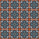 Modelo geométrico antiguo en la repetición Impresión de la tela Fondo inconsútil, ornamento del mosaico, estilo étnico Fotografía de archivo